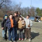 Billy, Blake, Scoutmaster Hazen, Mitchel, Skylar