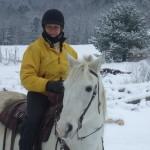 Marilyn & Sam - Snow ride 2010