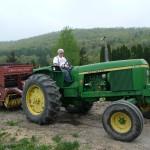 John's tractor and baler