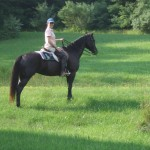 Karen riding Pepper in Roundtop Park