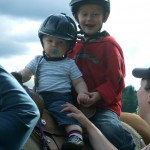 Hunter and Dylan riding