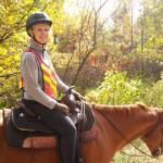 Donna Horton riding Socks