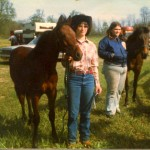 Anne and Brandy at Horse Show June 1983