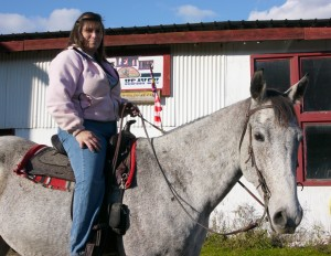 Anne and Shadow at Horse Heaven