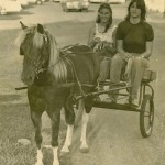 Anne with sister Mary - Sassy pulling Cart