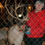 James Steffen with reindeer