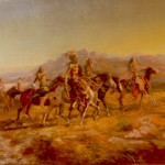 Sun River War Party by Charles Russell