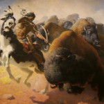 """The Buffalo Hunt"" by William Robinson Leigh"