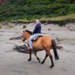 Sarah on the beach ride