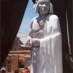 Statue of Pope photographed in San Juan Pueblo by Eina Einarsson Kvaran