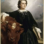 """Rosa Bonheur with Bull"" painted by E. L. Dubufe"