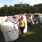 Pat and Amish Quilts - photo by Karen Sykas