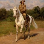 """The Buffalo Hunter"" painted by Rose Bonheur"