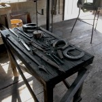 Horse shoes, hinges, hooks, spoons all handcrafted by blacksmith