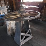 Wheelwright Stand and Buggy Wheel