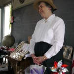 Barbara Rhodes, Docent at Whingblinger Heritage Festival, Corning, NY
