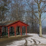 Picnic pavilon near overlook