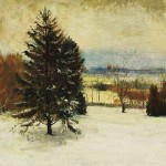 """Snow. January. Southerly Wind, Cloudy Sky and Sunlight"" by John La Farge (American painter, 1835-1910)"