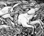 'Odin Rides to Hel', illustration by W.G. Collingwood from The Elder or Poetic Edda
