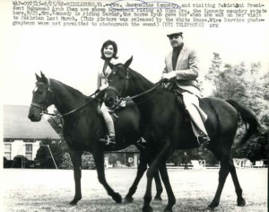 glenorakhan jackie riding with pakistani president